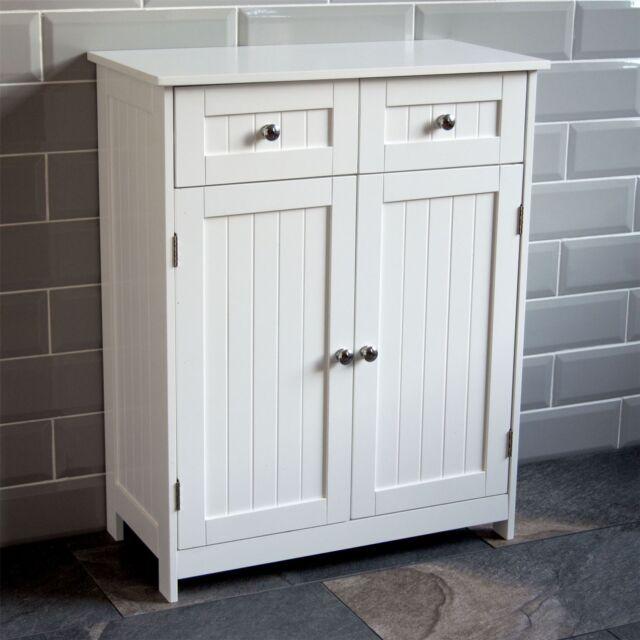 Bathroom Cabinet 4 Drawer 1 Door Storage Cupboard Unit Home