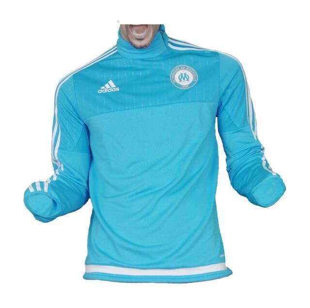 Olympique Marseille Trainingstop Sweatshirt Blue 2015/16 Adidas Gr. XS
