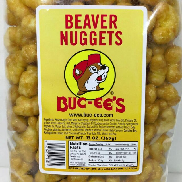 Buc-ees Famous Beaver Nuggets 5 Bags Sweet Corn Puff