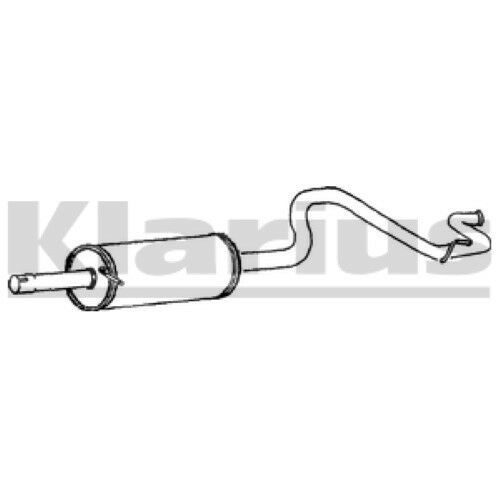 1x KLARIUS OE Quality Replacement Rear / End Silencer Exhaust For FORD Diesel