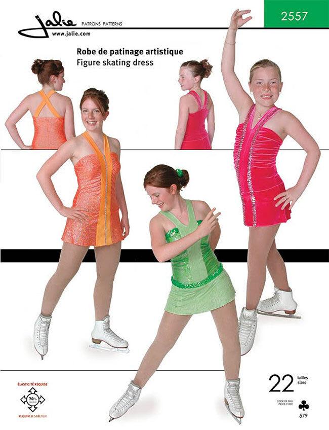 Jalie V Neck Figure Skating Dress Sewing Pattern 2557 Misses