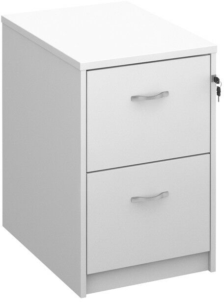 Deluxe Executive Two Drawer Filing Cabinet In White