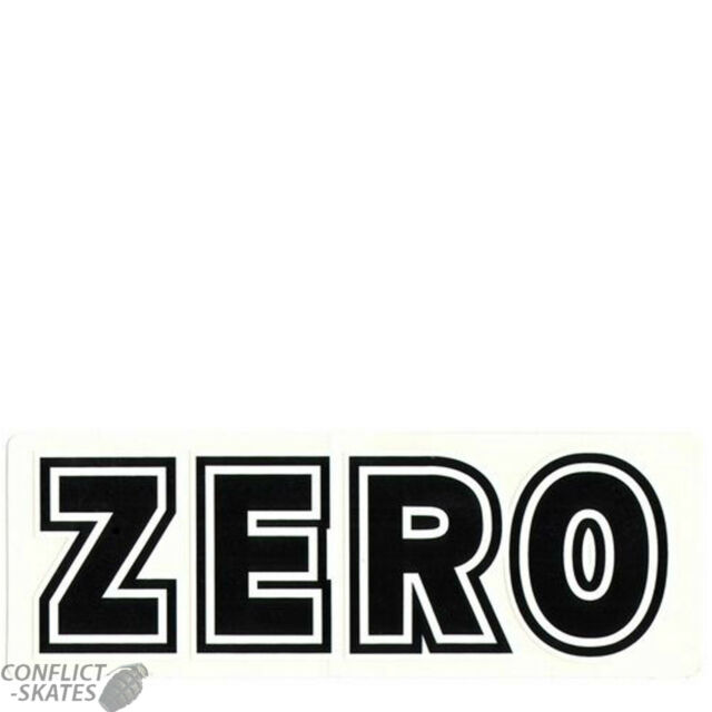 Zero skateboards bold skateboard snowboard surfboard sticker decal 15cm black