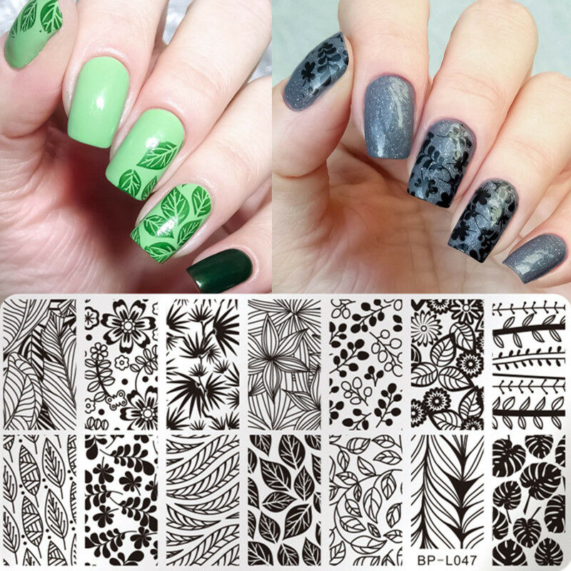 Born pretty nail art stamp plate manicure image template leaf picture 1 of 2 prinsesfo Image collections