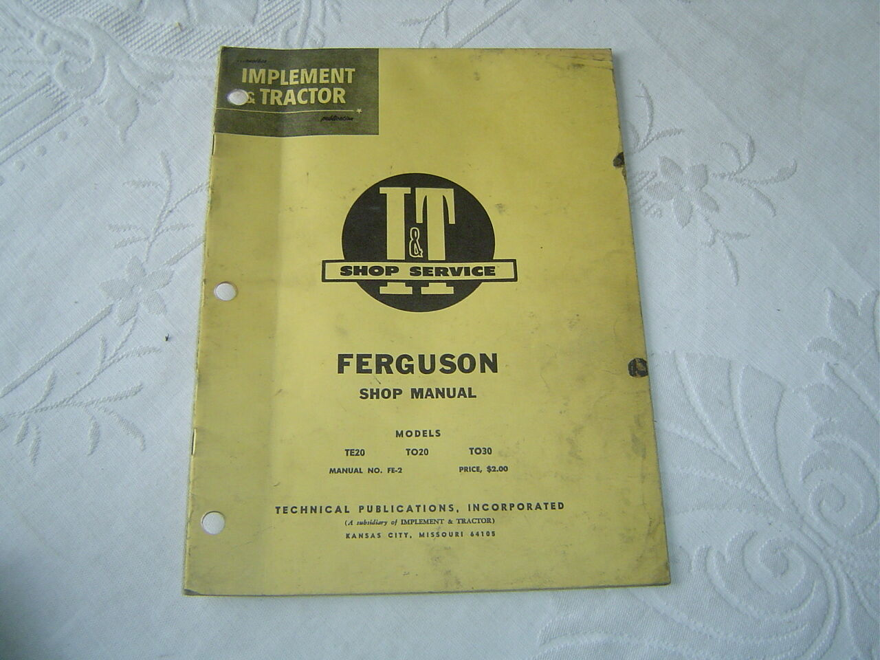 Shop Manual for Massey Ferguson Tractor Te20 To20 To30 | eBay