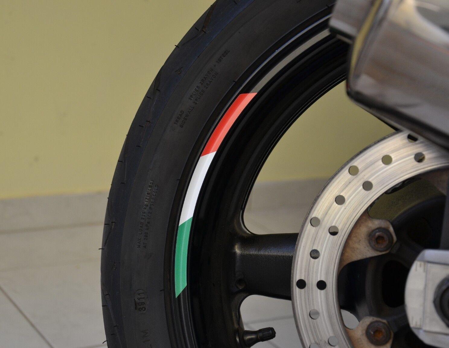 X Rims Wheels Italy Vinyl Sticker Stripes Flag Motorcycle Rim For - Vinyl stripes for motorcycles