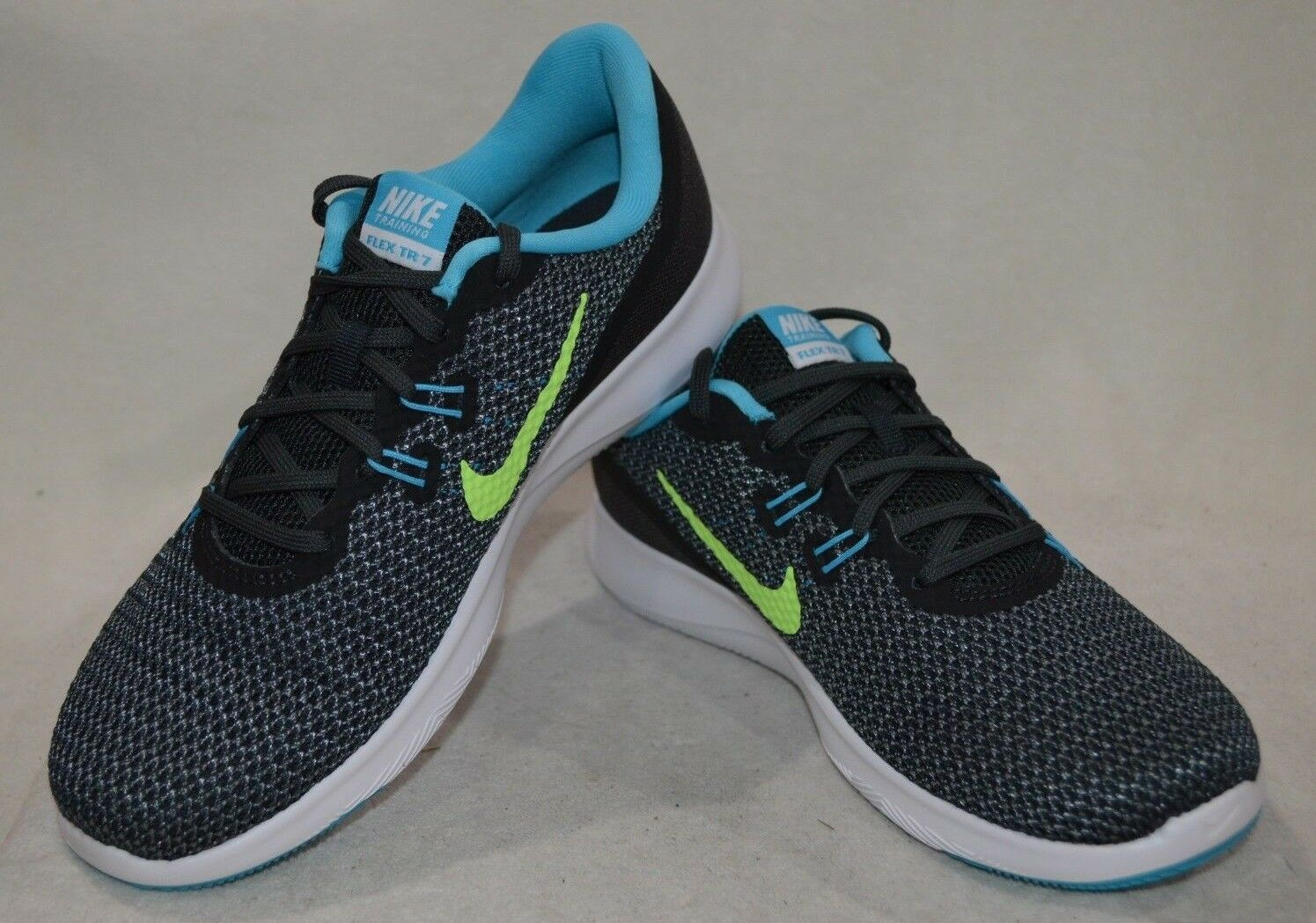 Nike Flex Trainer 7 Anthacite/Green Women's Cross-Trainers Shoes-Asst Sizes NWB