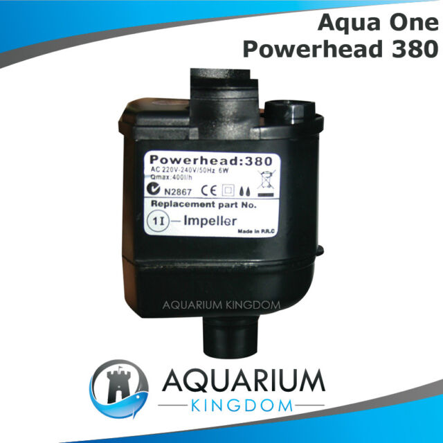 10948BK Aqua One Powerhead 380 Filter Pump Aquarium 126 / 340 / 380 / 600 Tanks