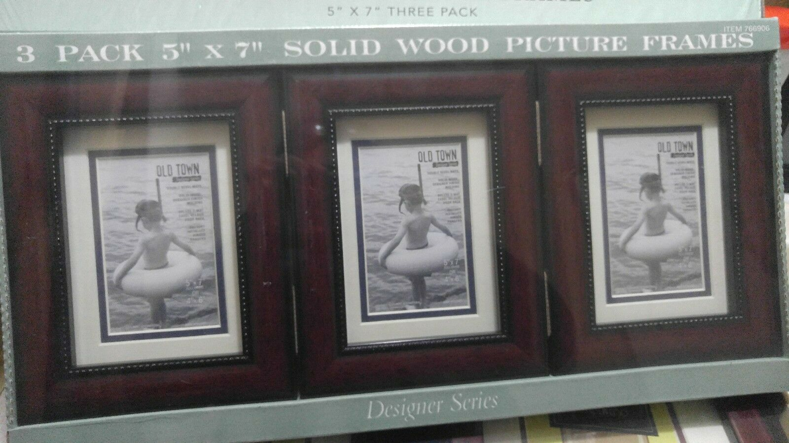 Old Town 3-pack Picture Frames Solid Wood DESIGNER Series 5x7 or 4x6 ...