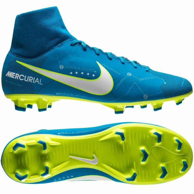 Nike Mercurial Victory VI FG 2017 Neymar JR NJR Dynamic Fit Soccer Shoes  Blue