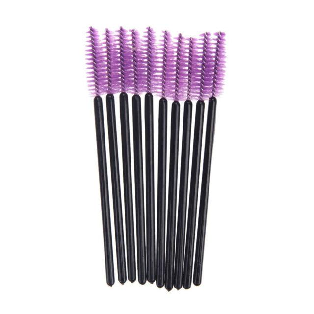 100 Disposable Mini Eyelash Brush Mascara Wands Eyelash Makeup High Quality V8I6