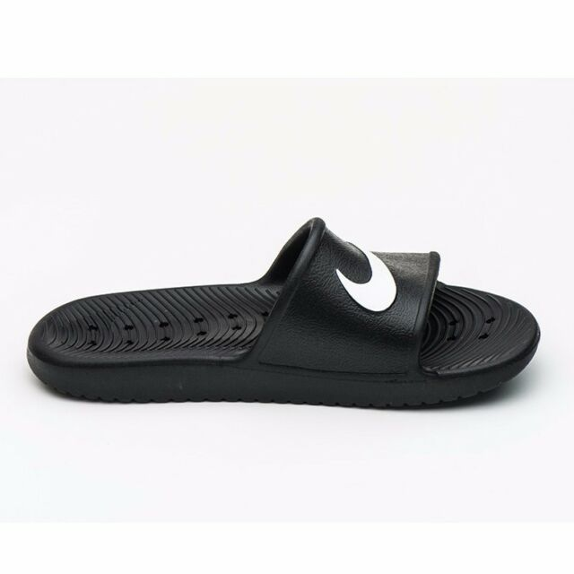 Nike KAWA Doccia Da Uomo Infilare Flip Flop Sandalo Nero