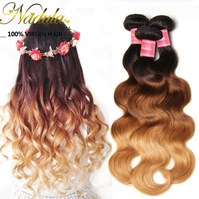 3 Bundles Ombre Three Tone 7amalaysian Body Wave Hair Extensions 100