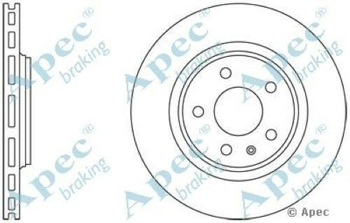 1x OE Quality Replacement Rear Axle Apec Vented Brake Disc 5 Stud 300mm - Single