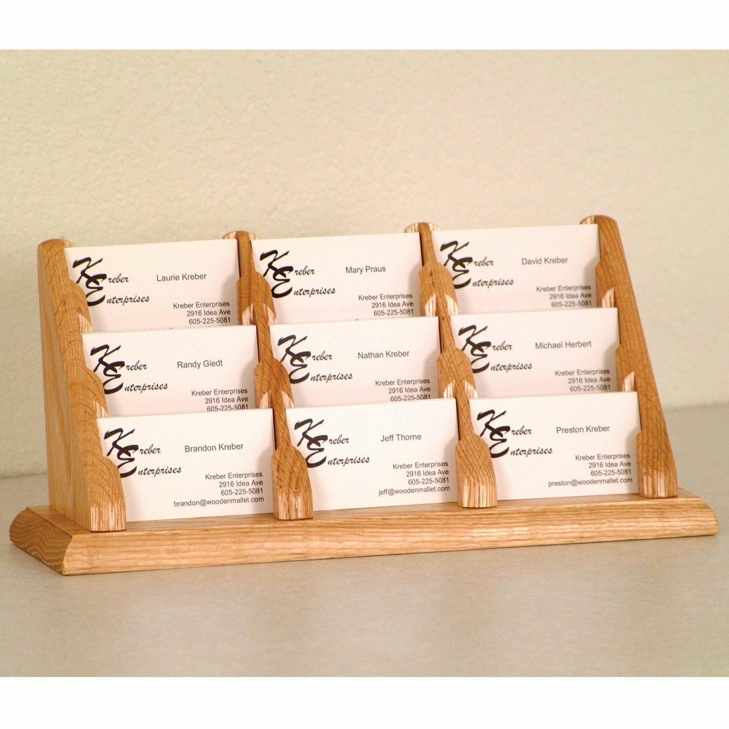 Wooden mallet bcc39lo light oak 9 pocket countertop business card picture 1 of 1 colourmoves
