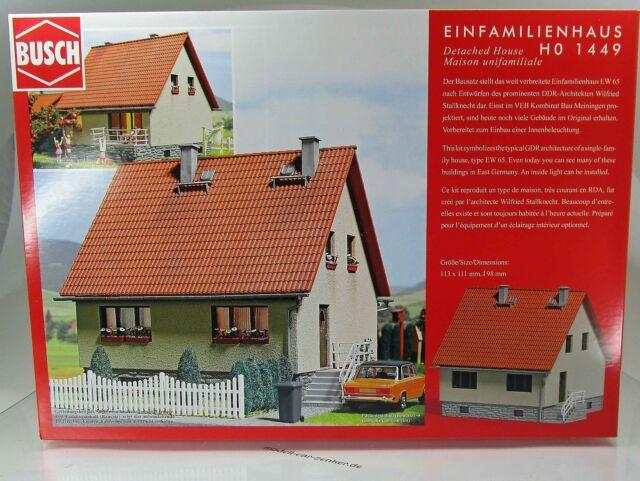 Busch 1449 Bausatz: Einfamilienhaus EW 65 -  DDR-Siedlungshaus - HO