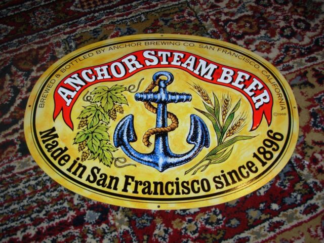 Anchor brewing promo metal tacker sign craft beer brewery for Craft beer san francisco