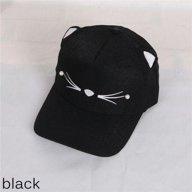 Women Sport Baseball Hat Cat Ear Running Visor Quick-drying Cap Hip ... 936a1592b8c0