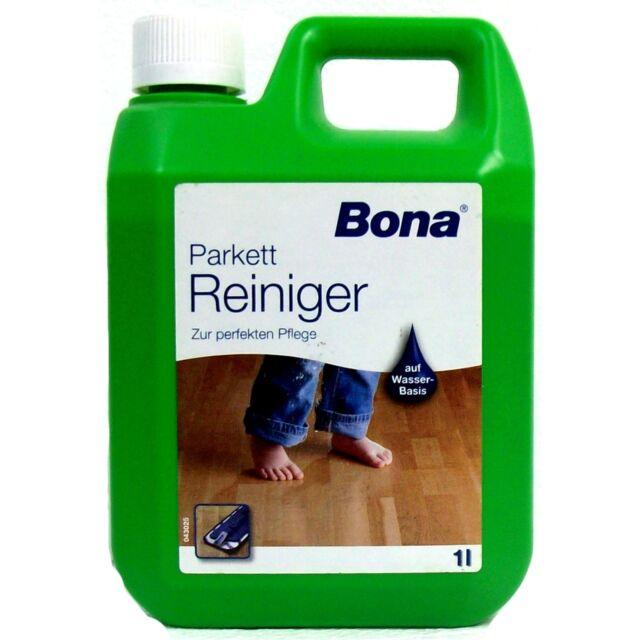 Parkett Reiniger 1 liter bona parkett reiniger pflege parkettlack lack bodenpflege ebay