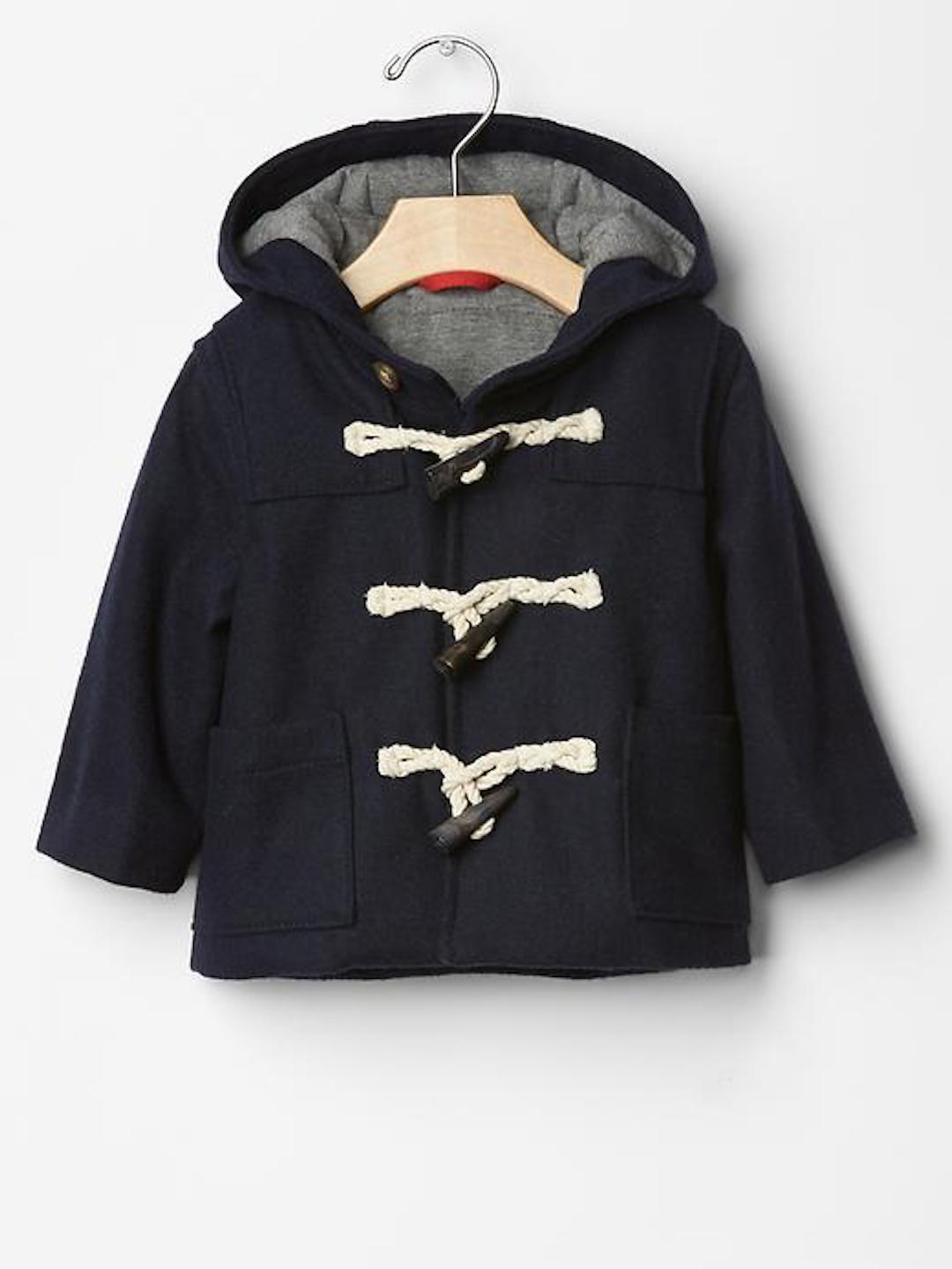 Baby Gap Navy Uniform Duffle Coat 50 Polyester 40 Wool 6 Rayon 4 ...