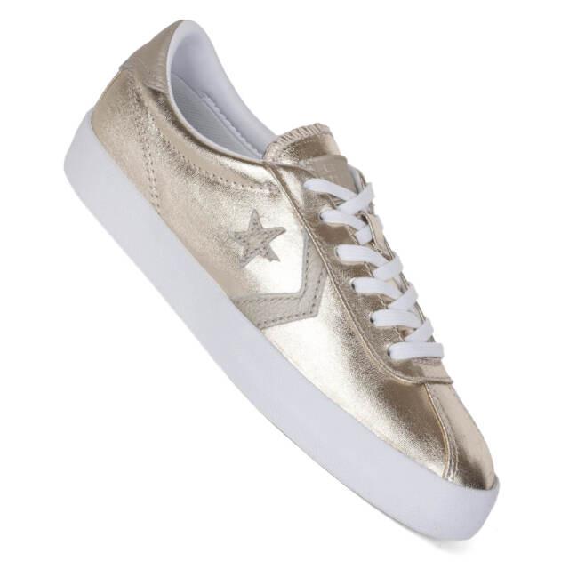 CONVERSE Punto di interruzione OX LUMINOSO Oro Sneaker donna im Metallic Look
