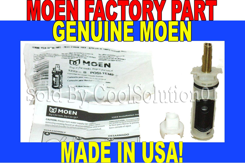 Genuine Moen 1222 1222b Single Handle Posi-temp Cartridge | eBay