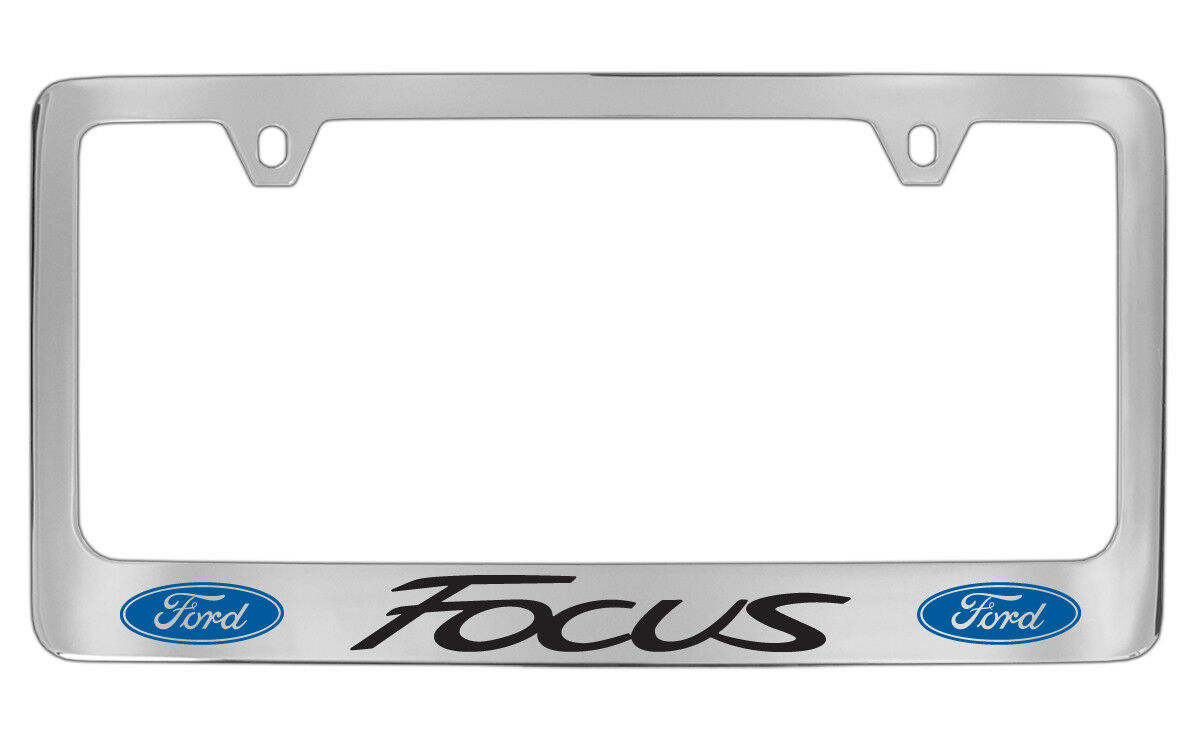 Ford Focus Chrome Plated Metal License Plate Frame Holder | eBay