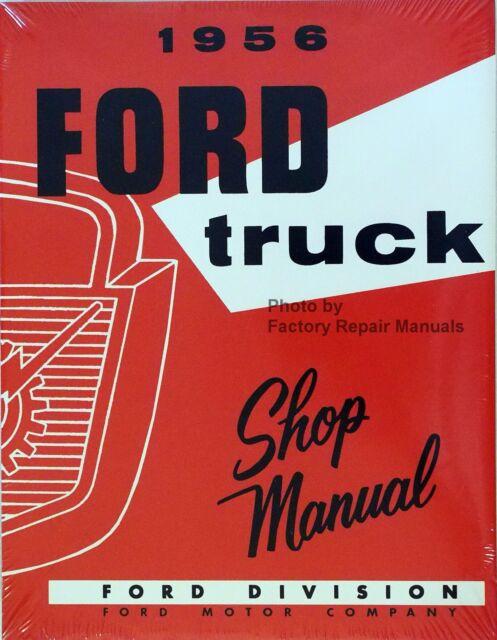 1956 ford truck original shop manual light medium heavy duty ebay rh ebay com 1956 ford truck shop manual download 1956 ford truck shop manual