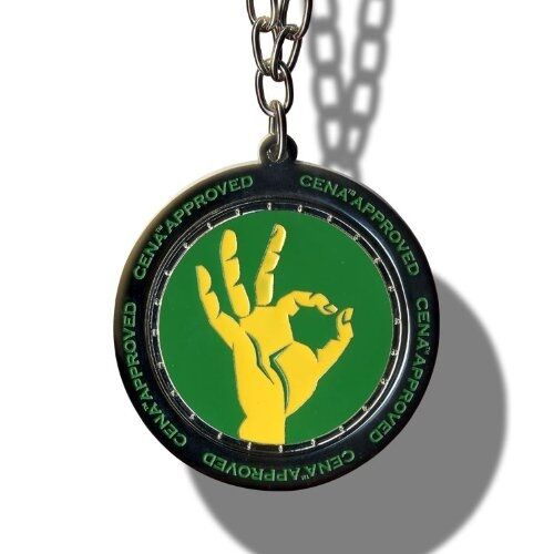 Wwe john cena approved spinner pendant necklace wrestling green wwe john cena approved spinner pendant necklace wrestling greenyellow chain ebay mozeypictures Gallery