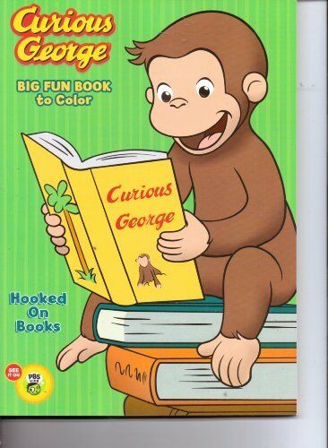 Curious George Big Fun Coloring Book Made In USA Ages 3 Happy Tunes