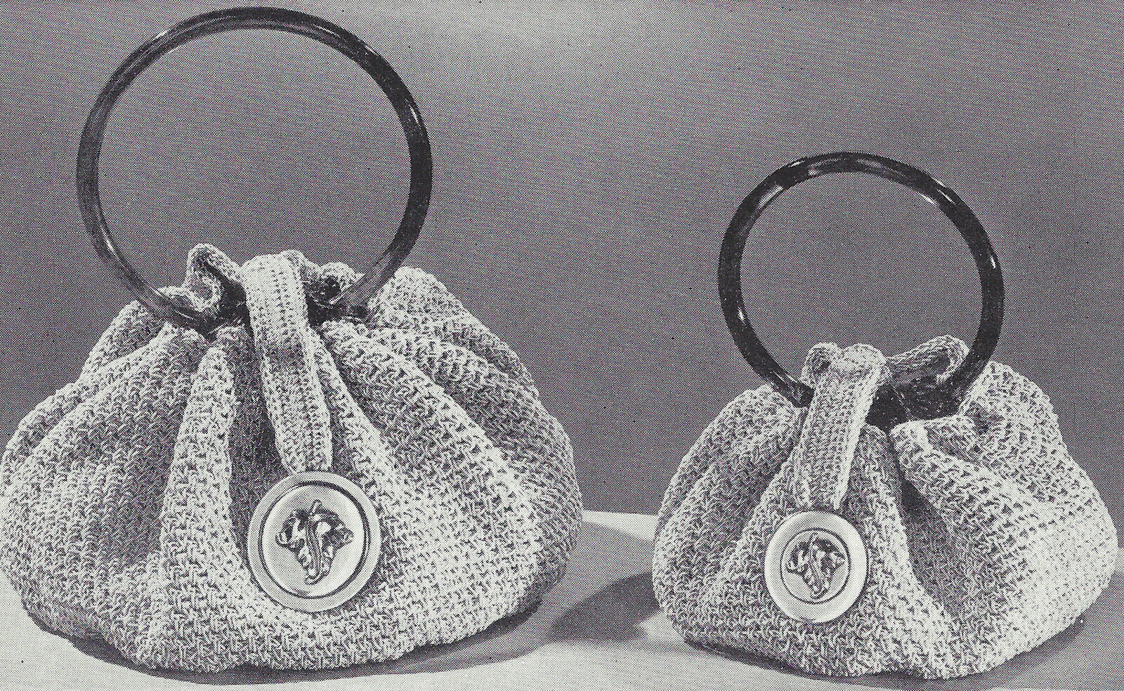 Vintage Crochet Pattern to Make Bracelet Handle Handbag Purse Bag ...