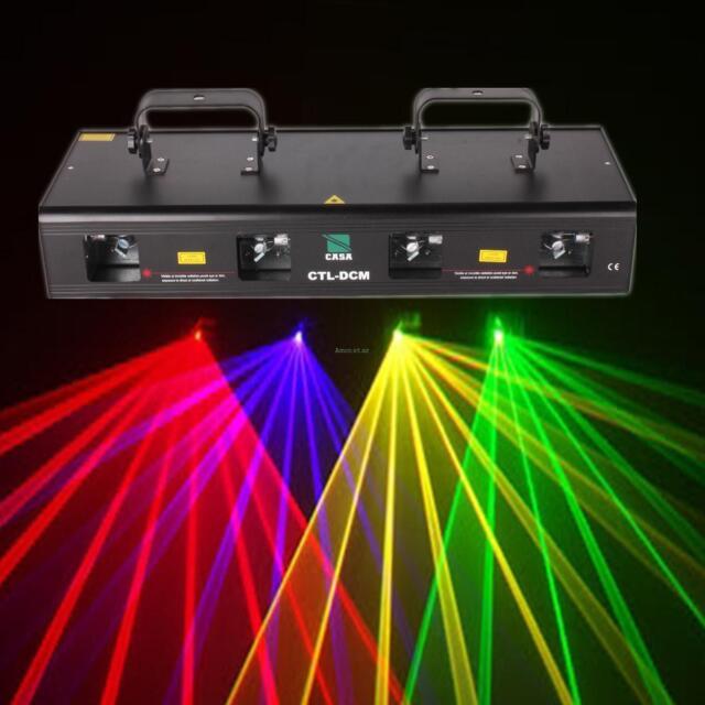 Dj Laser Lights : 460mw red green purple yellow 4 beams laser light 7ch dmx dj stage show party ebay ~ Vivirlamusica.com Haus und Dekorationen