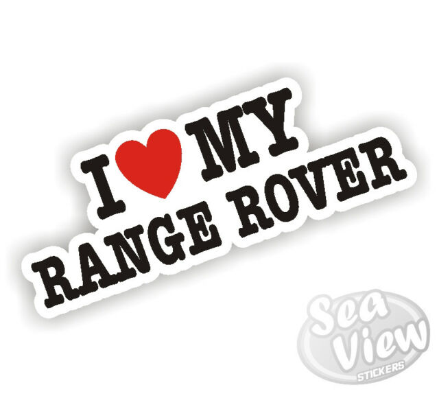 I heart love my range rover car van wall window sticker funny stickers decal