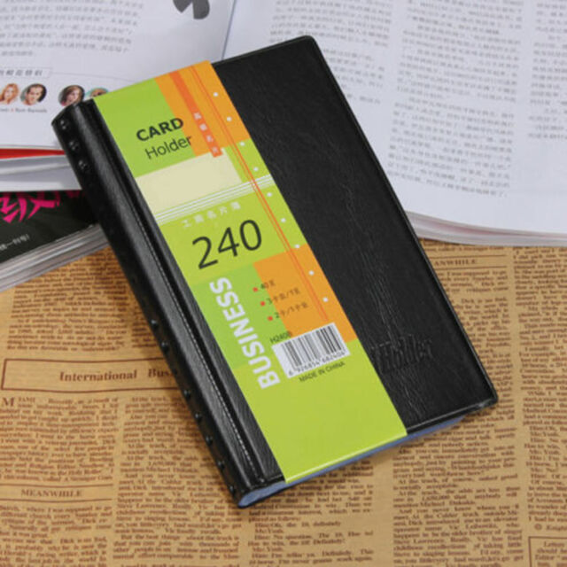 Leather 240 cards business name id credit card holder book case leather 240 cards business name id credit card holder book case keeper organizer reheart Images