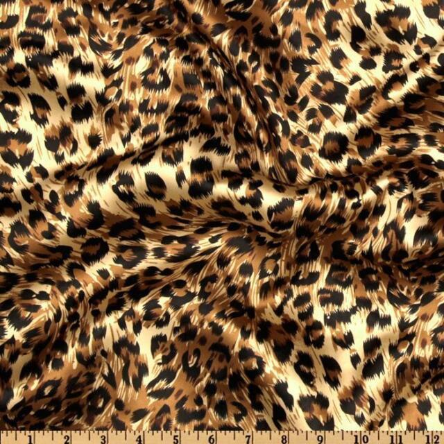 150ft Cheetah Leopard Satin Aisle Runner Animal Silky Charmeuse Printed Fabric