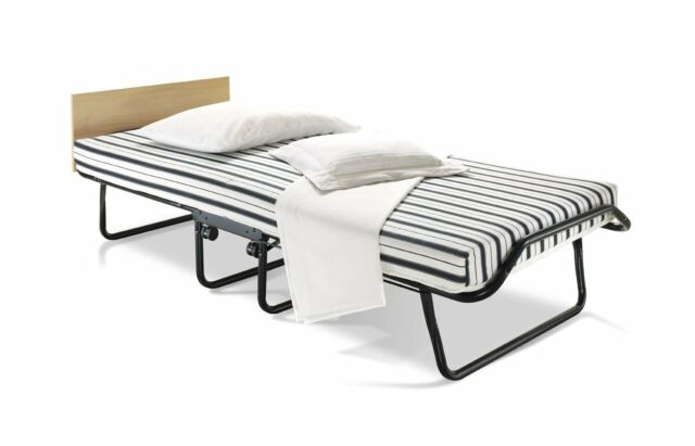 jaybe venus single folding guest bed with dual density airflow mattress