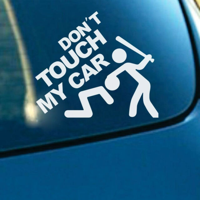 Auto suv window rear trunk fenders reflective dont touch my car decal sticker