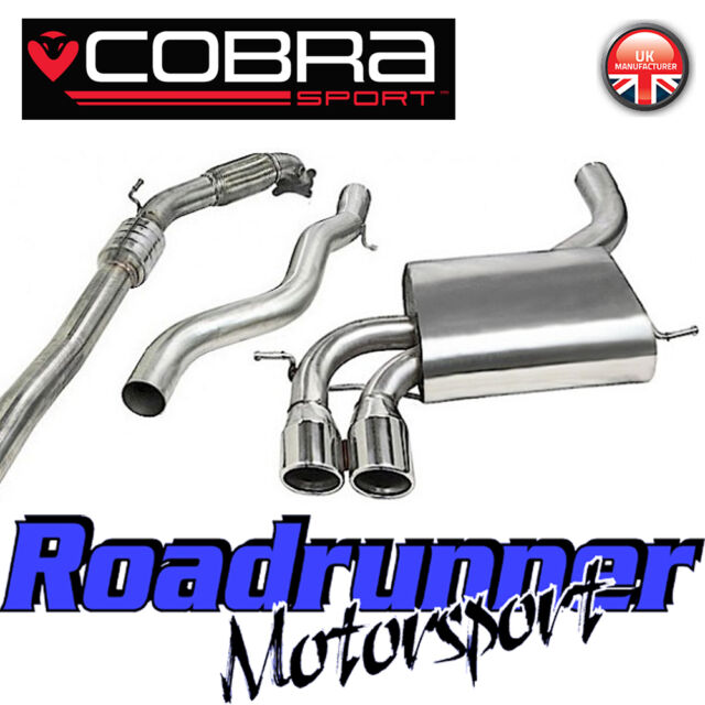 """Cobra Audi S3 2.0 3"""" Turbo Back Exhaust System Stainless Non Res Inc Cat 3 Door"""