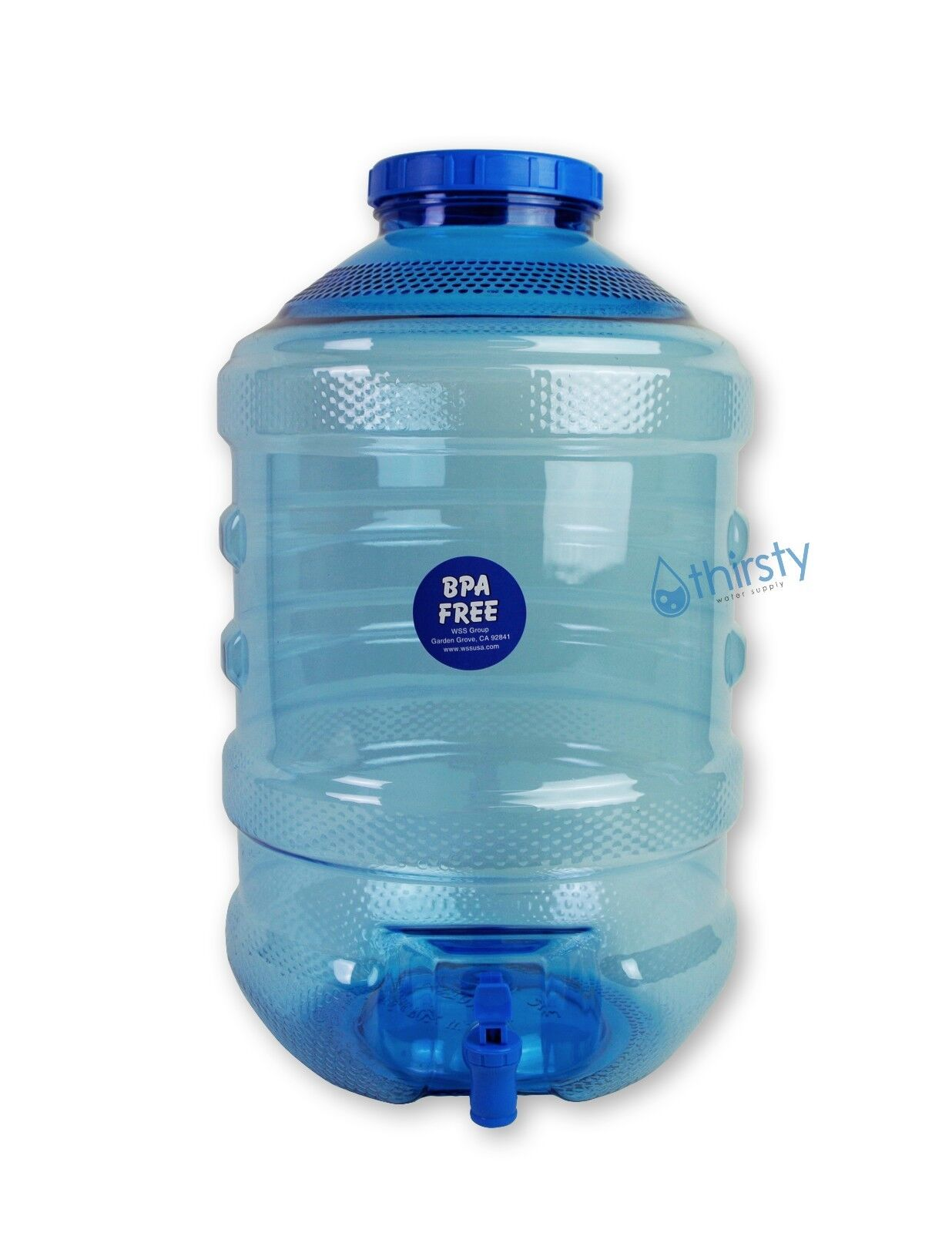 5 Gallon Water Bottle BPA Plastic Big Cap Jug Container W/ Faucet ...