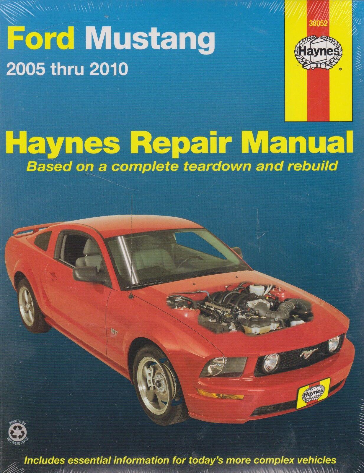 haynes repair manual ford mustang 2005 thru 2010 by inc editors rh ebay com 1994 Ford Mustang 2010 Ford Mustang Manual Transmission