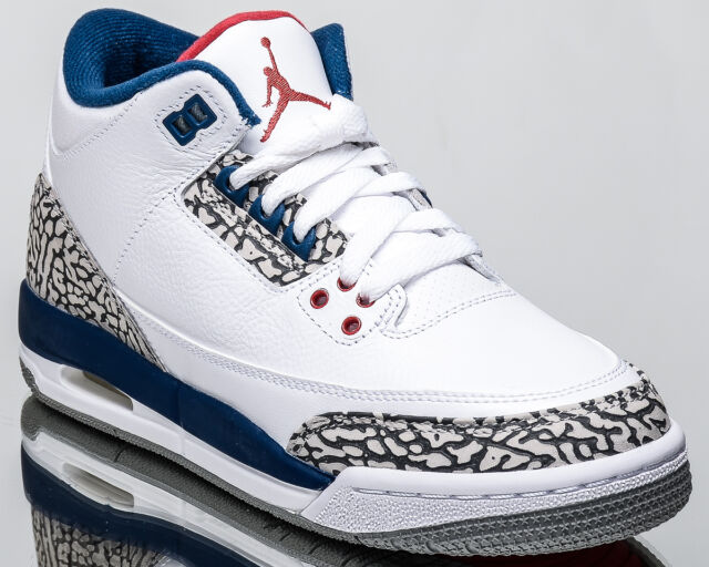 Nike Air Jordan III Retro 3 True Blue 2016 OG Cement Grey Red White 854262-106