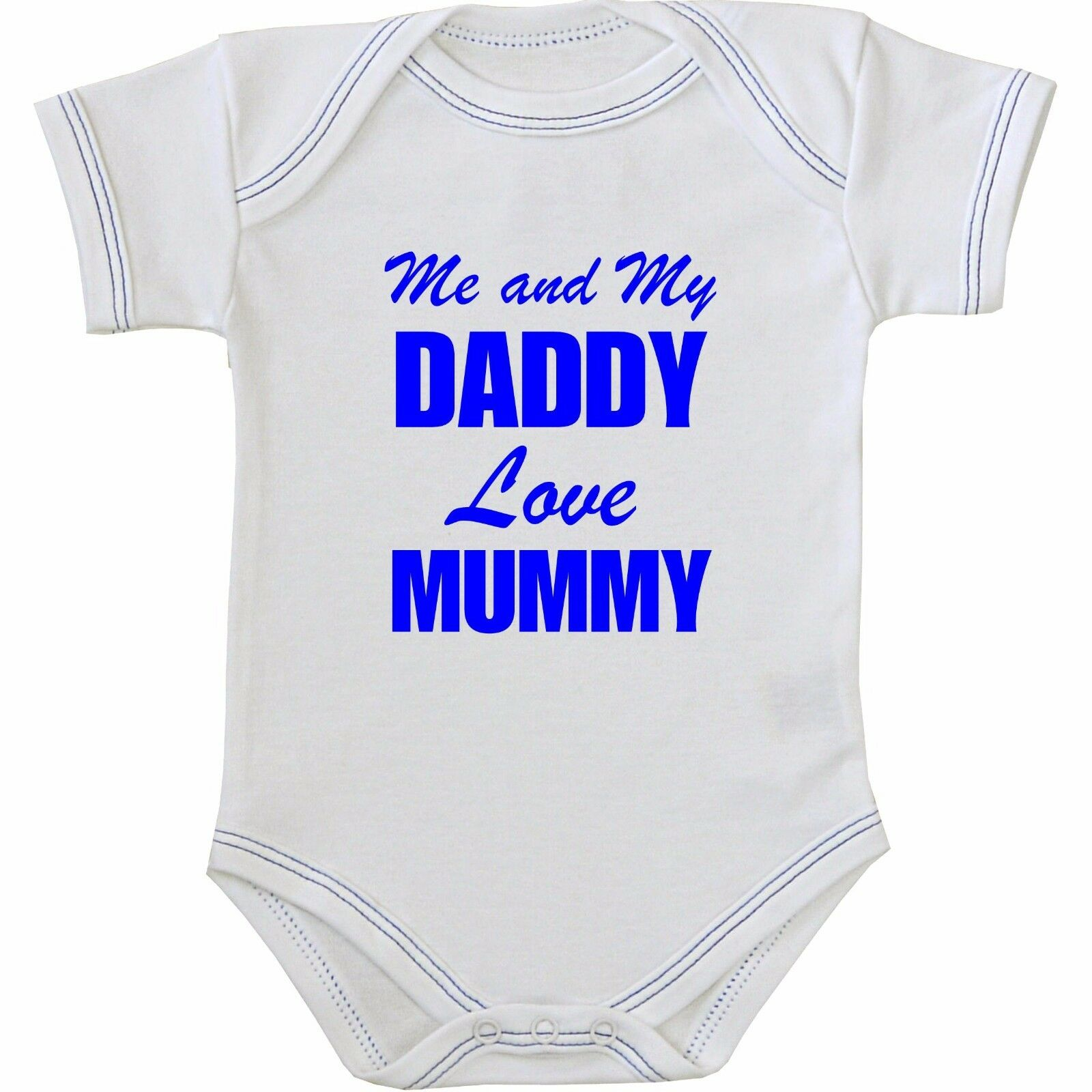 BabyPrem Baby Clothes I Daddy Love Mummy Bodysuits Vests e pieces