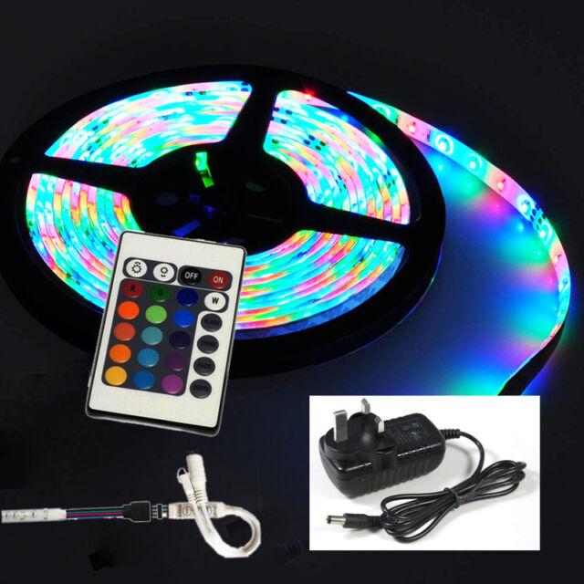 12v plug in waterproof 5m 300 led rgb strip light tape with remote 12v plug in waterproof 5m 300 led rgb strip light tape with remote power supply aloadofball Gallery