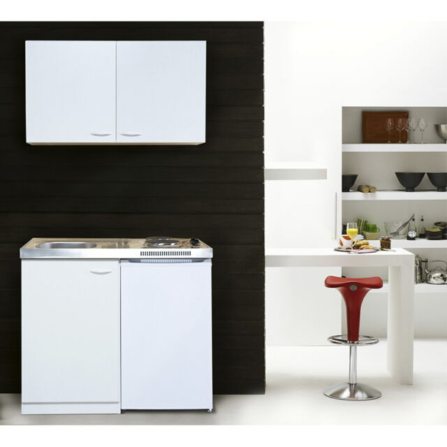 Respekta Miniküche Pantry 100 Cm Weiß Inkl. Kühlschrank | Ebay