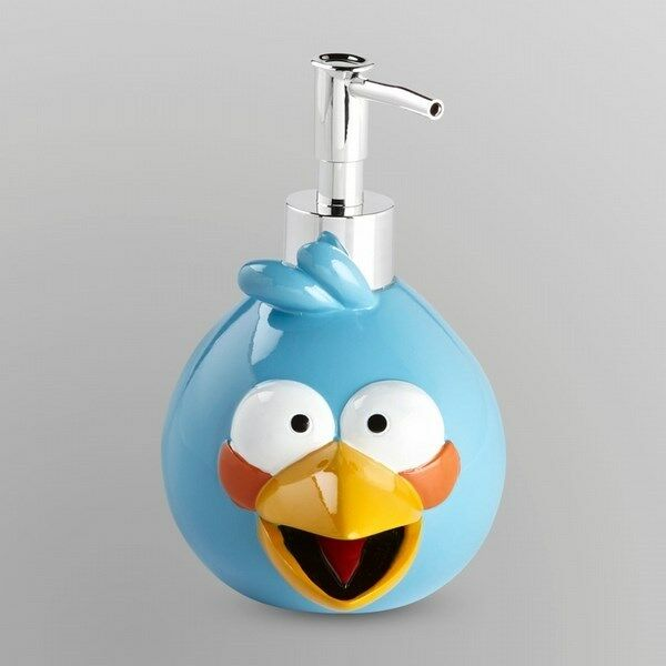 Rovio Angry Birds Soap Or Lotion Pump Dispenser Bathroom Countertop Blue Bird Kids Childs Ebay