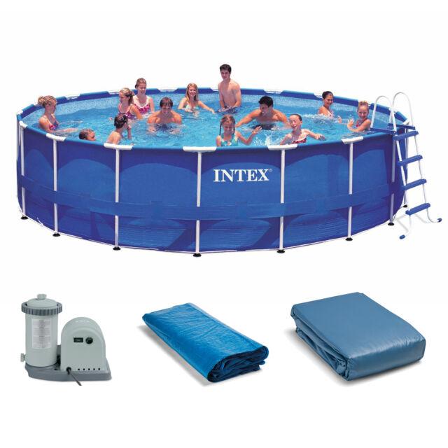 Intex 18ft X 48in Metal Frame Pool Set | eBay