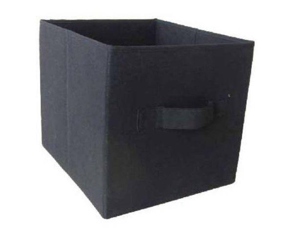 Superb Mainstays Collapsible Storage Bin   Set Of 2   Black Fabric Storage Cubes