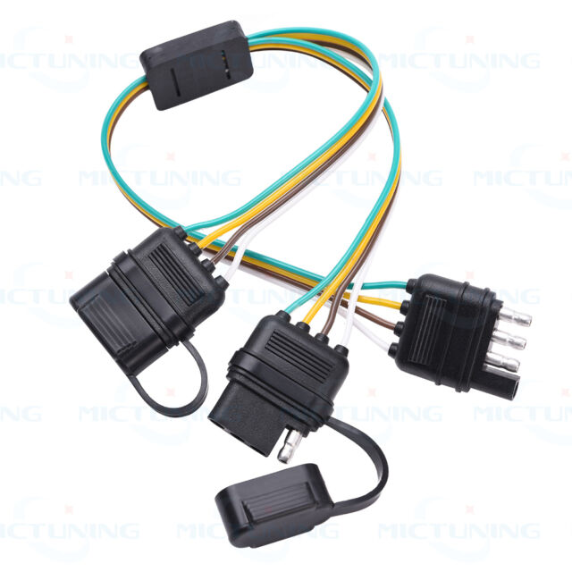 mictuning trailer splitter 2 way 4 pin y split wiring harness rh ebay com 4 pin wiring harness high quality 4 pin wiring harness extension