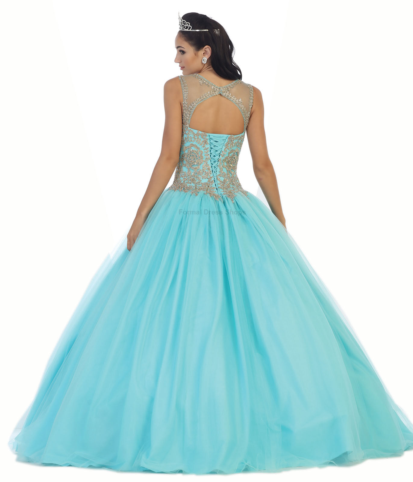 Sweet 16 Cinderella Dresses Military Ball Gown Prom Pageant Corset ...