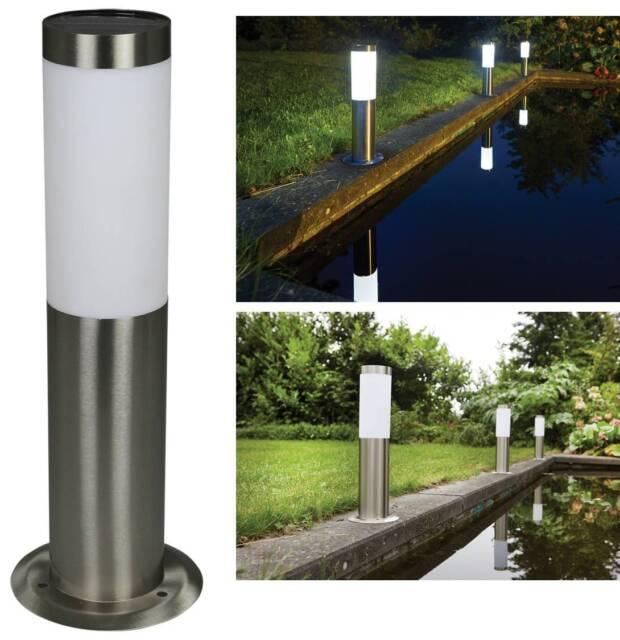 Luxform lighting idaho garden outdoor path driveway high lumen solar post light